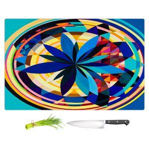 Artistic Kitchen Bar Cutting Boards | Lorien Suarez - Wheel 118 | Geometric