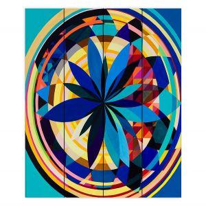 Decorative Wood Plank Wall Art | Lorien Suarez - Wheel 118 | Geometric