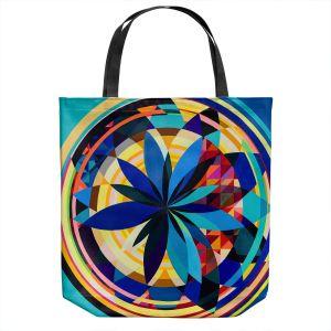Unique Shoulder Bag Tote Bags | Lorien Suarez - Wheel 118 | Geometric