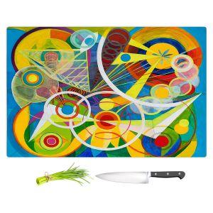 Artistic Kitchen Bar Cutting Boards   Lorien Suarez - Wheel 23   Geometric Abstract