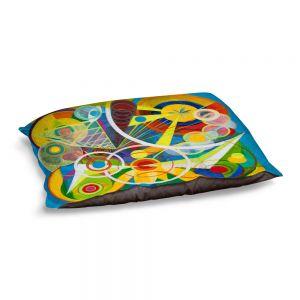 Decorative Dog Pet Beds | Lorien Suarez - Wheel 23 | Geometric Abstract