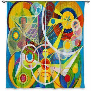 Decorative Window Treatments | Lorien Suarez - Wheel 23 | Geometric Abstract