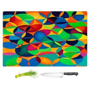 Artistic Kitchen Bar Cutting Boards   Lorien Suarez - Wheel 28   Geometric Abstract