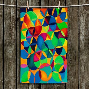 Unique Hanging Tea Towels | Lorien Suarez - Wheel 28 | Geometric Abstract