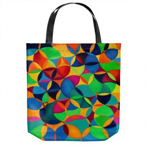 Unique Shoulder Bag Tote Bags | Lorien Suarez - Wheel 28 | Geometric Abstract