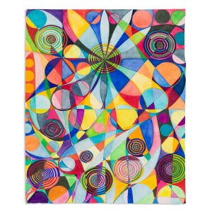 Decorative Fleece Throw Blankets | Lorien Suarez - Wheel 65 | Geometric Abstract