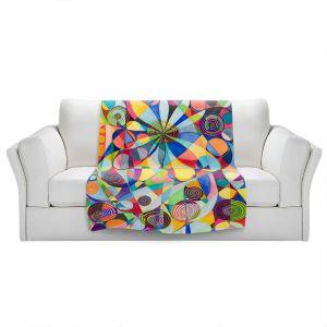 Artistic Sherpa Pile Blankets | Lorien Suarez - Wheel 65 | Geometric Abstract
