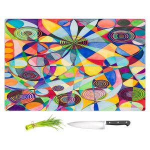 Artistic Kitchen Bar Cutting Boards   Lorien Suarez - Wheel 65   Geometric Abstract