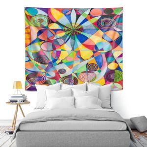 Artistic Wall Tapestry | Lorien Suarez - Wheel 65 | Geometric Abstract