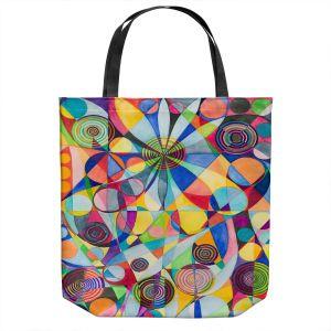 Unique Shoulder Bag Tote Bags | Lorien Suarez - Wheel 65 | Geometric Abstract