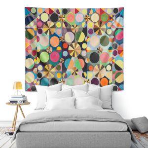 Artistic Wall Tapestry   Lorien Suarez - Wheel 88   Geometric Abstract