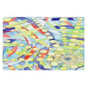 Decorative Floor Covering Mats   Lorien Suarez - Wheel 9   Abstract