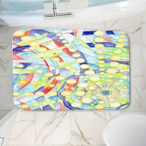 Decorative Bathroom Mats | Lorien Suarez - Wheel 9 | Abstract
