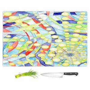 Artistic Kitchen Bar Cutting Boards | Lorien Suarez - Wheel 9 | Abstract