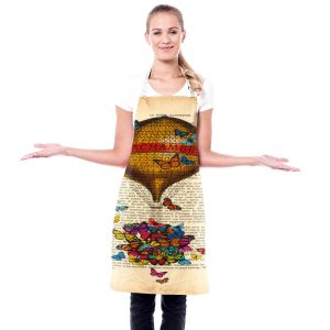 Artistic Bakers Aprons | Madame Memento - Balloon Butterflies | Childlike Stylized Fairy Tales