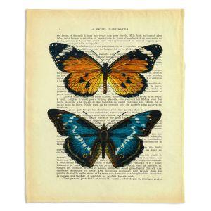 Artistic Sherpa Pile Blankets | Madame Memento Monarch Butterflies