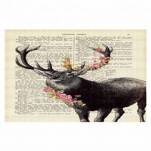 Decorative Floor Coverings   Madame Memento Deer Blossom