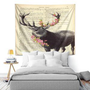 Artistic Wall Tapestry | Madame Memento Deer Blossom