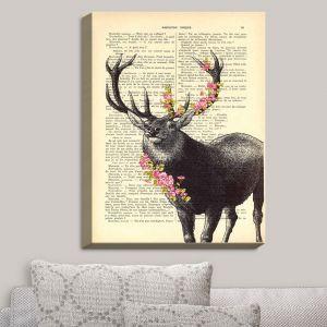 Decorative Canvas Wall Art   Madame Memento - Deer Blossom