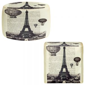 Round and Square Ottoman Foot Stools | Madame Memento - Eifel Tower