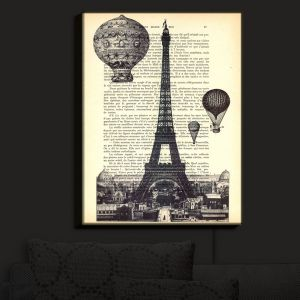 Nightlight Sconce Canvas Light | Madame Memento - Eifel Tower