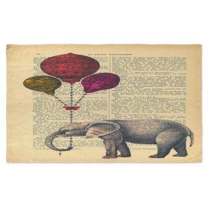 Artistic Pashmina Scarf | Madame Memento - Elephant Red Balloons | Animals Childlike