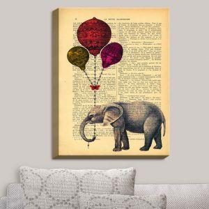 Decorative Canvas Wall Art | Madame Memento - Elephant Red Balloons