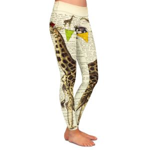 Casual Comfortable Leggings | Madame Memento Giraffes