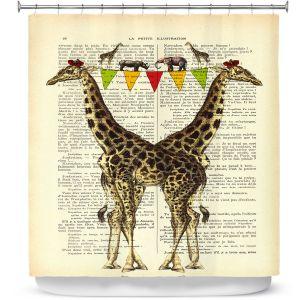 Premium Shower Curtains | Madame Memento Giraffes