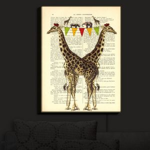 Nightlight Sconce Canvas Light | Madame Memento - Giraffes