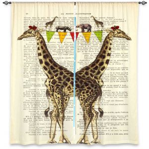 Decorative Window Treatments | Madame Memento Giraffes