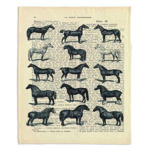 Decorative Fleece Throw Blankets | Madame Memento - Horse Breeds