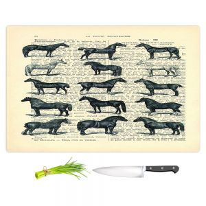 Artistic Kitchen Bar Cutting Boards | Madame Memento - Horse Breeds