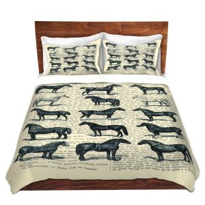 Artistic Duvet Covers and Shams Bedding   Madame Memento - Horse Breeds