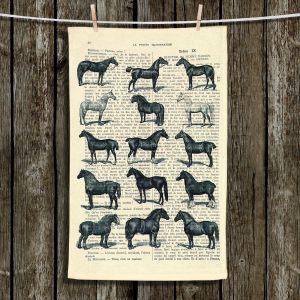 Unique Hanging Tea Towels | Madame Memento - Horse Breeds | Horses Different Breeds
