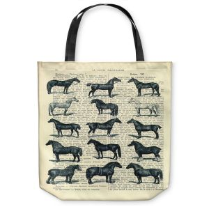Unique Shoulder Bag Tote Bags | Madame Memento - Horse Breeds