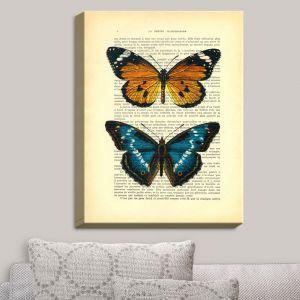Decorative Canvas Wall Art   Madame Memento - Monarch Butterflies