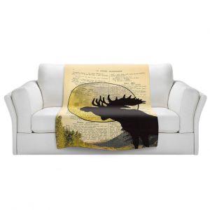 Artistic Sherpa Pile Blankets | Madame Memento - Moose Moon
