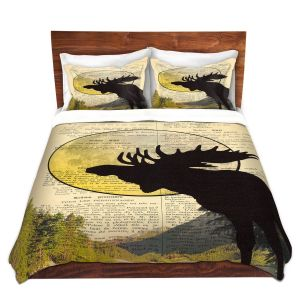 Artistic Duvet Covers and Shams Bedding | Madame Memento - Moose Moon