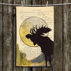 Unique Hanging Tea Towels | Madame Memento - Moose Moon | Moose Moon Nature