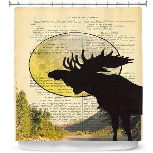 Premium Shower Curtains | Madame Memento - Moose Moon