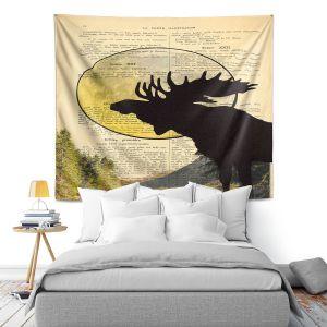 Artistic Wall Tapestry | Madame Memento - Moose Moon