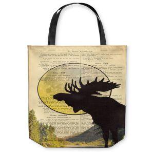 Unique Shoulder Bag Tote Bags | Madame Memento - Moose Moon