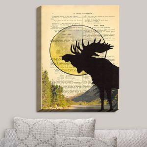 Decorative Canvas Wall Art | Madame Memento - Moose Moon
