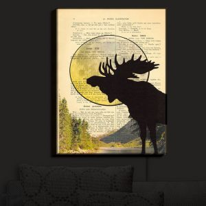 Nightlight Sconce Canvas Light | Madame Memento - Moose Moon