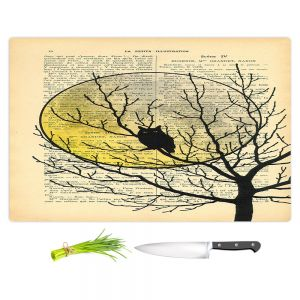 Artistic Kitchen Bar Cutting Boards | Madame Memento - Owl Moon