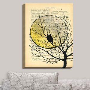 Decorative Canvas Wall Art | Madame Memento - Owl Moon