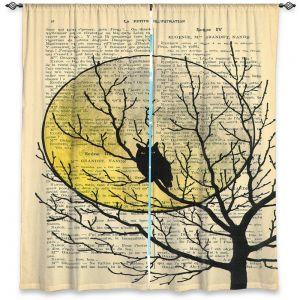 Decorative Window Treatments | Madame Memento - Owl Moon