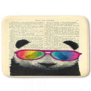 Decorative Bathroom Mats | Madame Memento - Panda Bear Rainbow Sunglasses