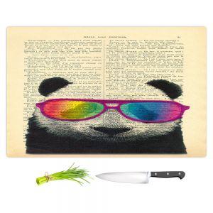 Artistic Kitchen Bar Cutting Boards | Madame Memento - Panda Bear Rainbow Sunglasses
